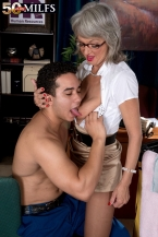 The lustful boss female and the cleaning man