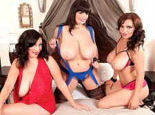 Arianna, Michelle and Lana in Bigger in size than average Boob Finishing School